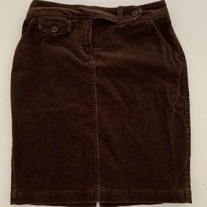 Brown Corduroy Skirt Size 2P
